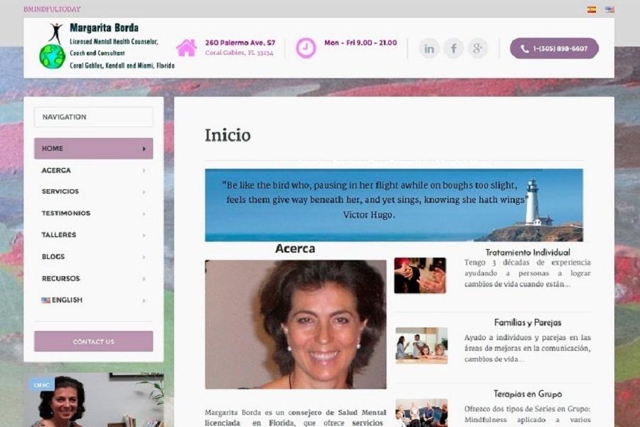 Diseño Web SEO Coralgables Kendall Miami Consulta Psicologo