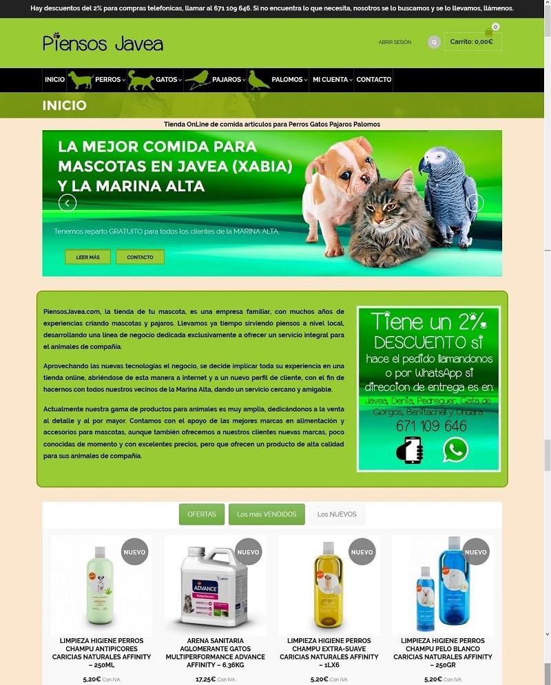 Diseño Web Tiendas OnLine Denia Javea Pedreguer Ondara