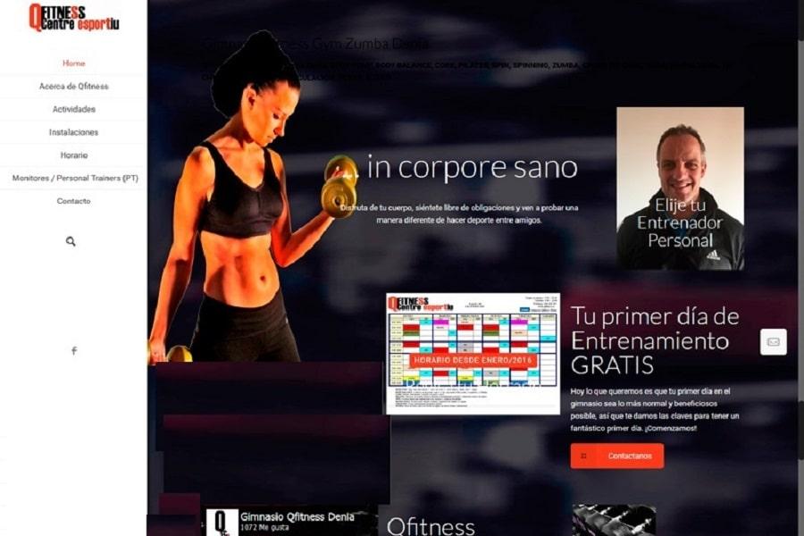 Diseño Web Responsive Denia Javea qfitness-es