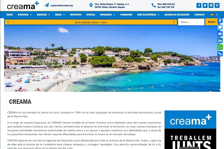 Analisis Diseño Web Corporativa Elementor CrocoBlock Dénia Javea